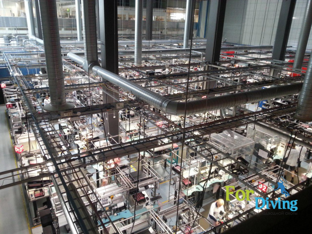 завод по производству компьютеров для дайвинга SUUNTO в финляндии